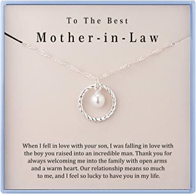 Mother In Law Gift Mom Gift from Daughter Necklace Step Mom Bonus Mom Mother of the Groom Gift Wedding Gift Mother In Law Gift Wedding Day