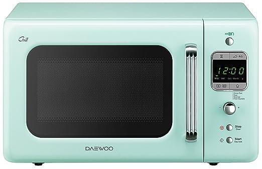 Daewoo kog-6lbm Horno a microondas 20 Lt Vintage Style con grill, menta