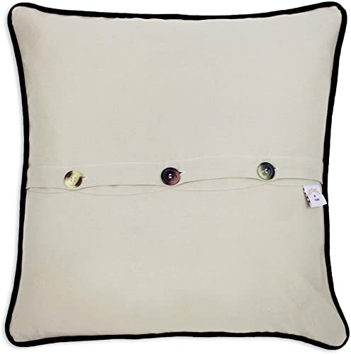 Catstudio Philadelphia Embroidered Decorative Throw Pillow