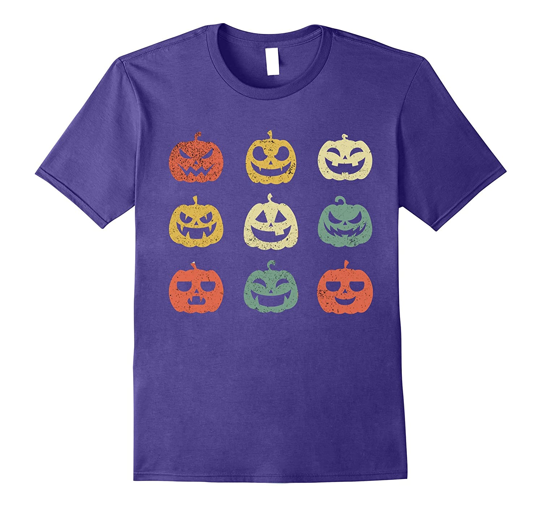 Funny Halloween Tshirt - Vintage Pumpkin Tshirt-Rose