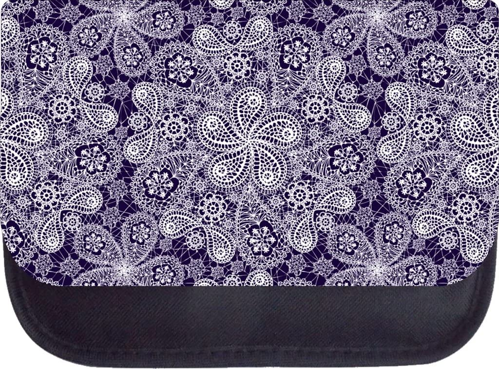 White and Purple Lace PRINT Design Backpack and Pencil Case Set