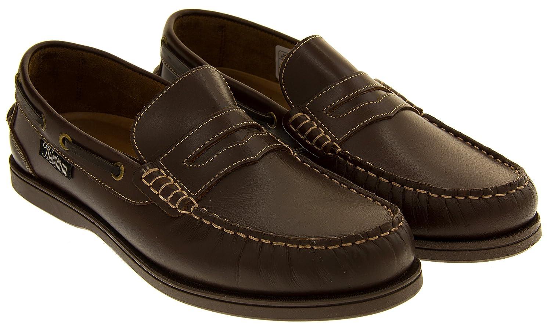 Helmsman 72015 Hombre Cuero Zapatos de la Cubierta Mocasines: Amazon.es: Zapatos y complementos