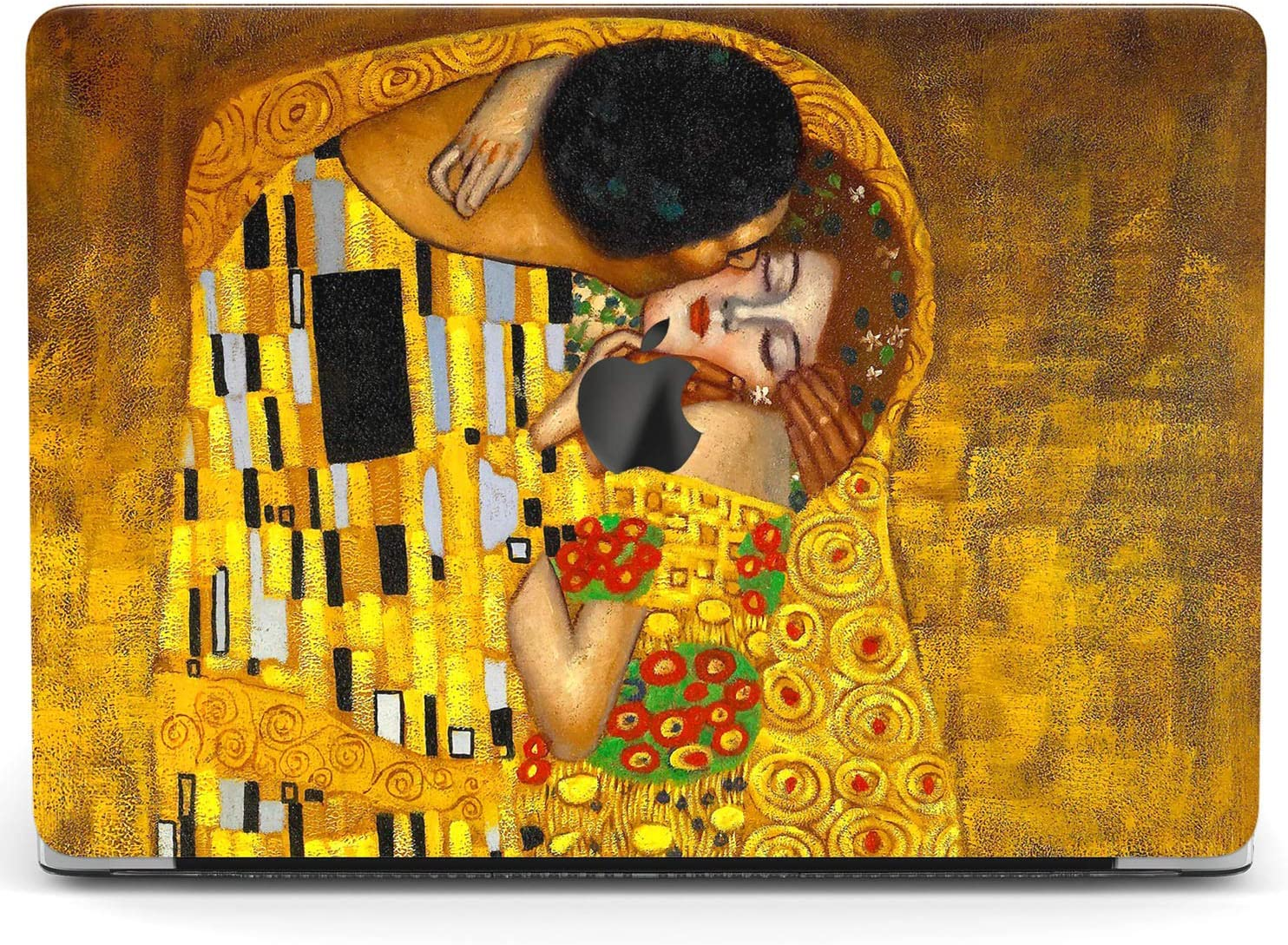 Wonder Wild Case for MacBook Air 13 inch Pro 15 2019 2018 Retina 12 11 Apple Hard Mac Protective Cover Touch Bar 2017 2016 2020 Plastic Laptop Print The Kiss Gustav Klimt Art Orange Famous Love Paint