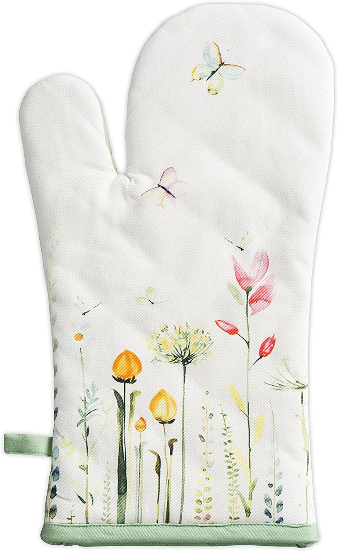 Maison d' Hermine Botanical Fresh 100% Cotton Oven Mitt 7.50 Inch by 13 Inch