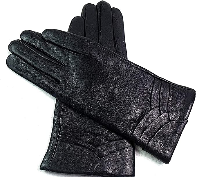 Womens Ladies Winter Gloves Driving Fur Lined Premium Super Soft Real Leather UK