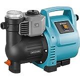 GARDENA Station de pompage 3500/4E : pompe domestique robuste, entièrement automatique, fréquence de clignotement LED, débit 3500 l/h, protection thermique, protection contre la marche à sec (1757-20)