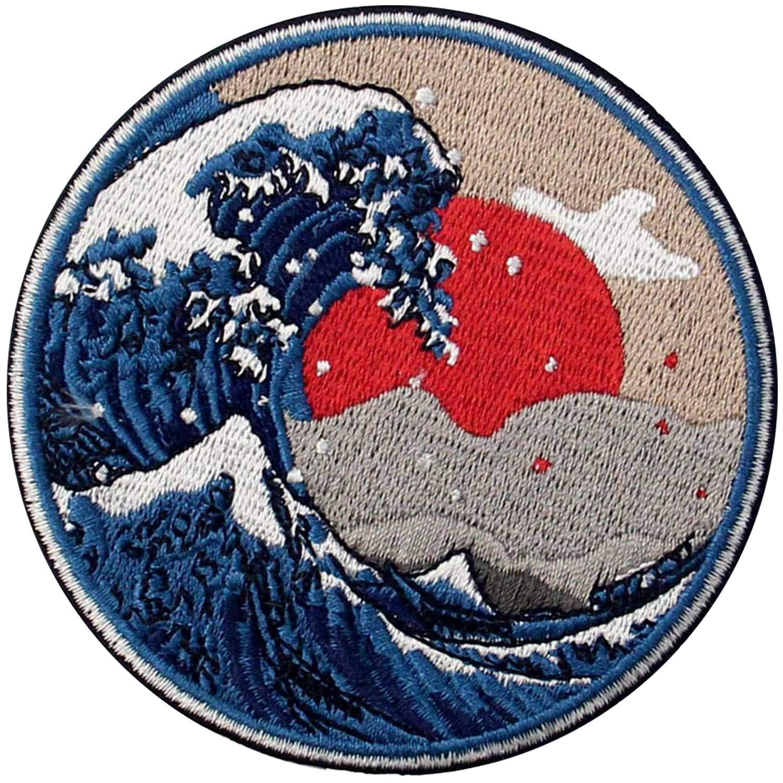 Amazon.com: Ebateck Kanagawa Wave Patch - Parche ...