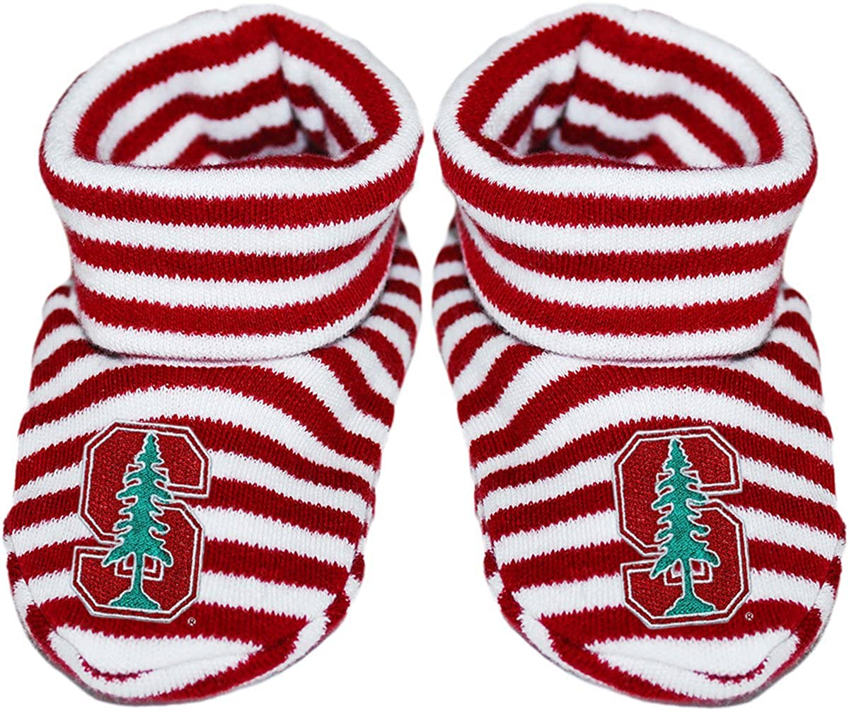 Stanford University Newborn Baby Striped Bootie Sock