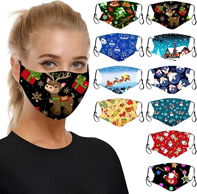 Lomelomme Damen Nasen-Mundschutz mit Blumen Muster Waschbarer Mundschutz Baumwolle Motiv Verstellbar Atmungsaktiv Wiederverwendbar Mund und Nasenschutz