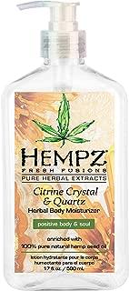 product image for Hempz Fresh fusions citrine crystal & quartz herbal body moisturizer, 17 Ounce