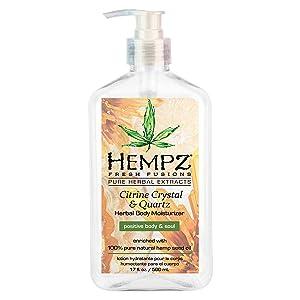 Hempz Fresh fusions citrine crystal & quartz herbal body moisturizer, 17 Ounce