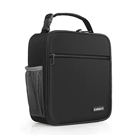 d6acd124ce20 CARBATO Adult Insulated Lunch Box Reusable Lunch Bag Cooler Tote Bag for  Men, Adults, Women (Black)