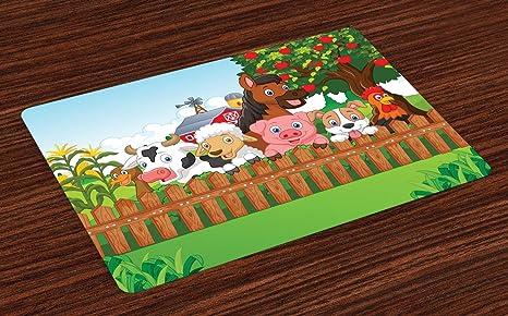 Colchonetas de dibujos animados, Composición Animales de ...