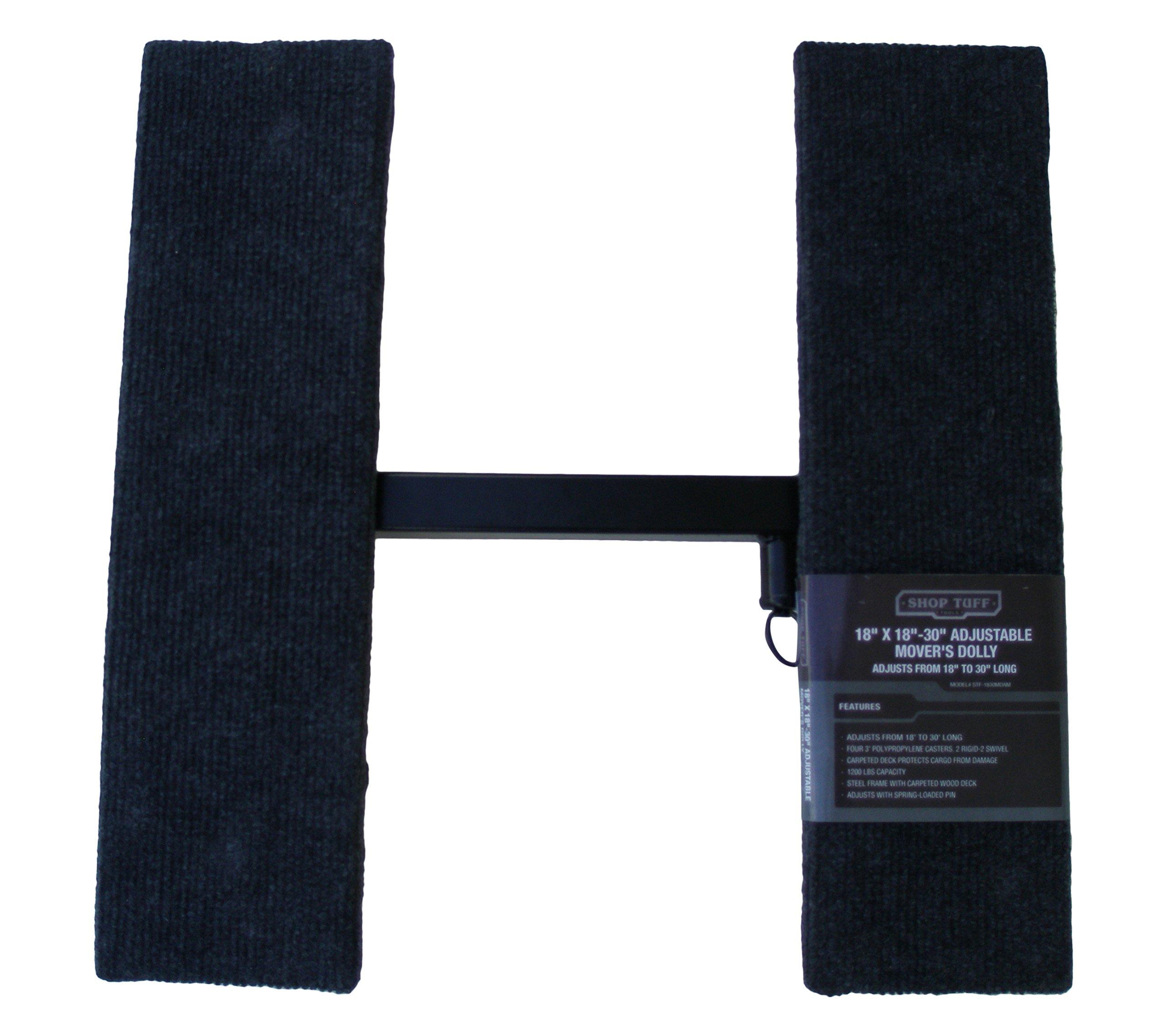 Shop Tuff STF-1830MDAM Adjustable Mover's Dolly, 18'' x 18'' x 30''