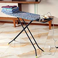 Royalford 110 x 34 cm Ironing Board with Steam Iron Rest, Heat Resistant, Contemporary Lightweight Iron Board with…
