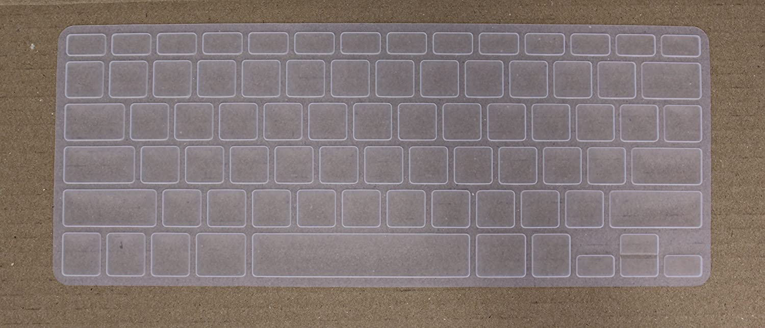 Saco Silicone Keyboard Protector Skin Cover for/Apple MacBook Pro MD101HN//A 13.3-inch laptop-Transparent