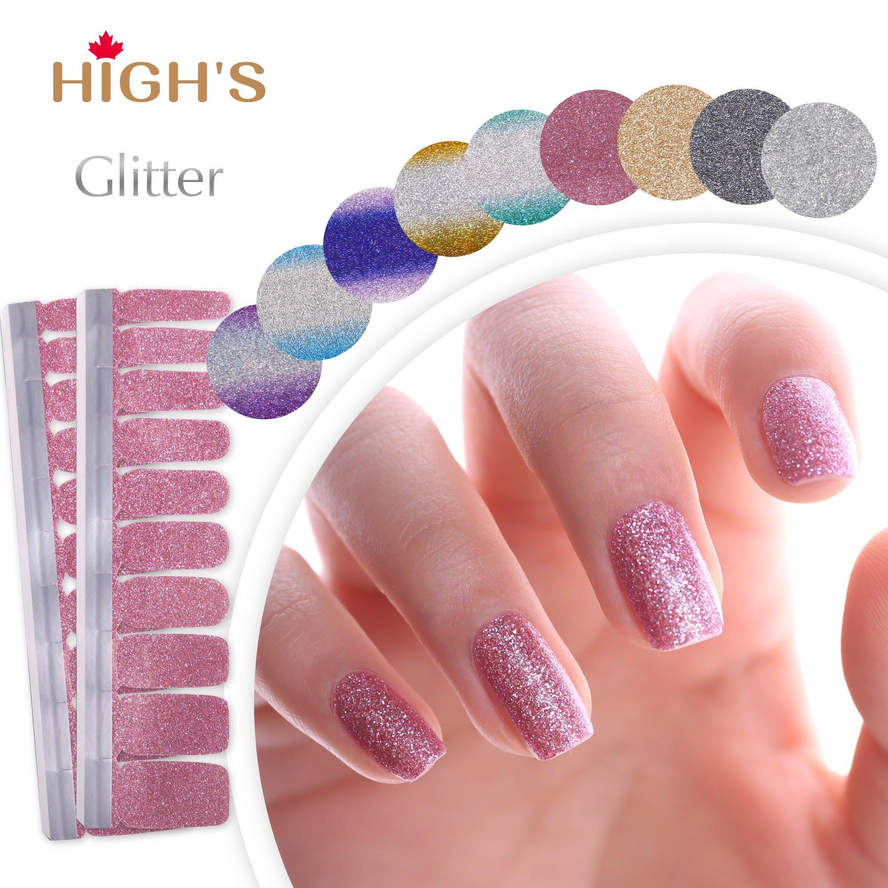 Amazon.com : Angel Beauty - Premium Nail Wraps - Blueberry Blue ...