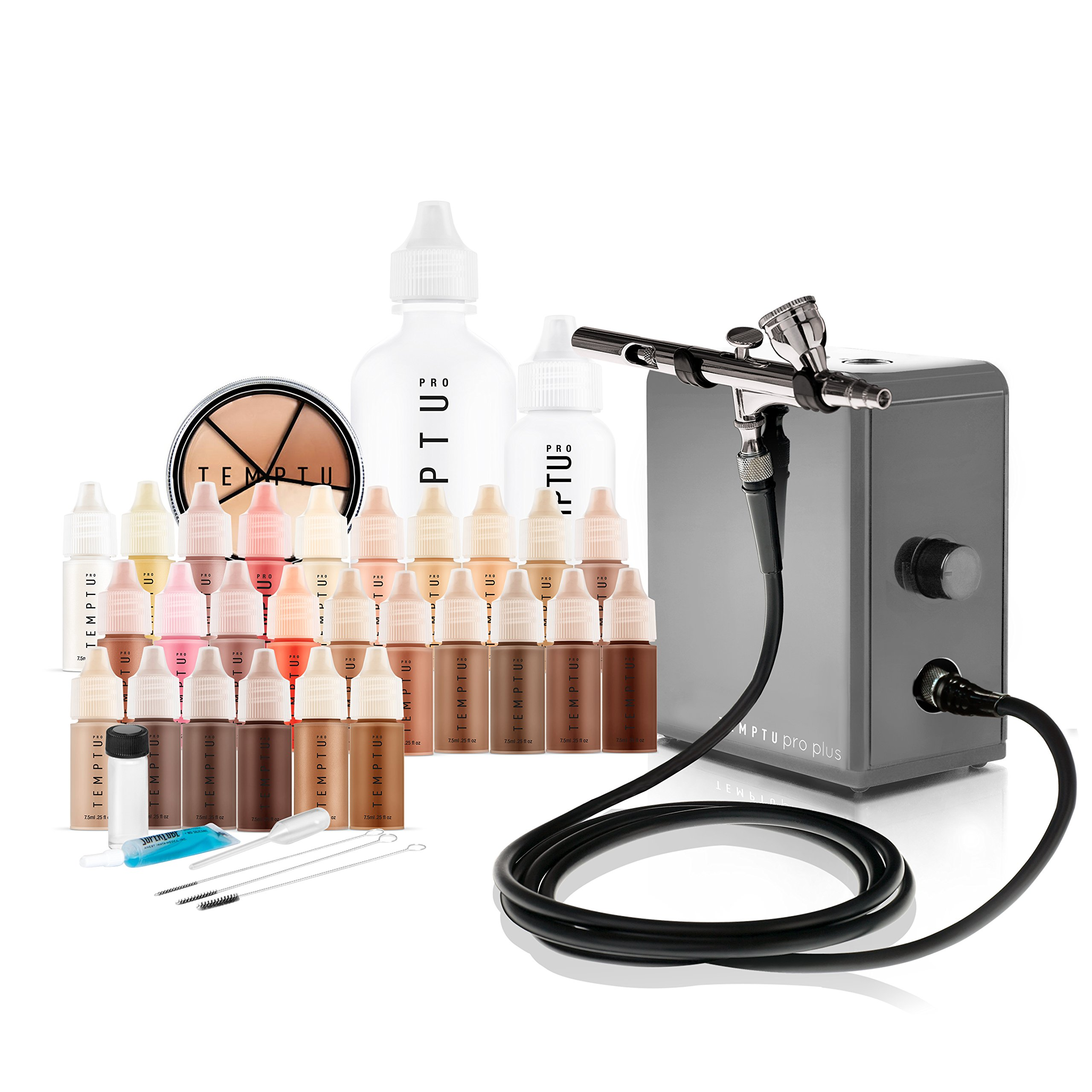 Temptu Pro Plus Deluxe Airbrush Kit: Airbrush Makeup Set for Professionals by Temptu