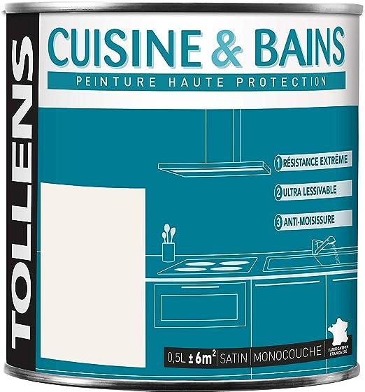 Tollens Cuisine Bains Peinture Murs Plafonds Et Boiseries Satin Blanc Craie 0l5 6 M