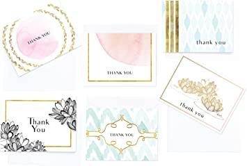 Ideal For Wedding Baby Shower Beach Thank You Cards Bridal Shower Customer Appreciation Note Cards /& Envelopes FREE SHIPPING