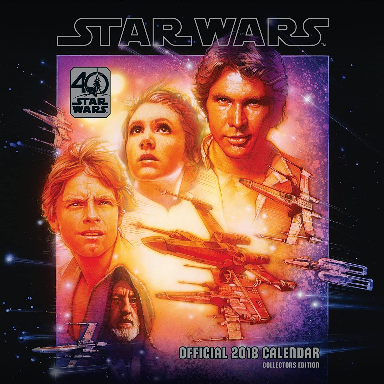 Star Wars 40th Anniversary Official 2018 Calendar - Square Wall Format (Calendar 2018) Danilo Promotions Limited 1785493884 Film TV & Radio