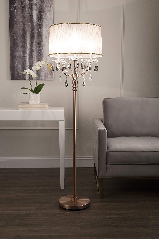 Amazon.com: ok-5126 F 62-inch Rosie Crystal – Lámpara de pie ...