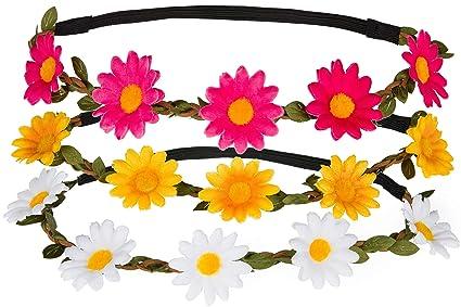Groß Gelb Daisy Blume Auf Einem Stirnband Kleidung & Accessoires Mädchen-accessoires