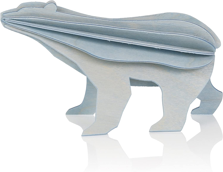 Polar Bear 20D Wooden Puzzle – Blue – Lovi Creation from Finland ...
