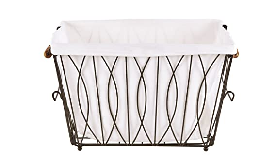3f0e1f18bd3 Artesa Verona Collapsible Metal Laundry Cart with Removable Basket   Canvas  Bag  Amazon.co.uk  Kitchen   Home