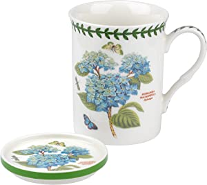 Portmeirion Botanic Garden Blue Hydrangea Mug and Coaster Set