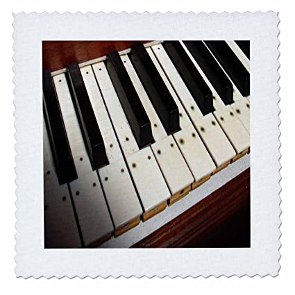 Yves Creations Musical Notes - Piano Keyboard - Quilt Squares - 6x6 inch quilt square