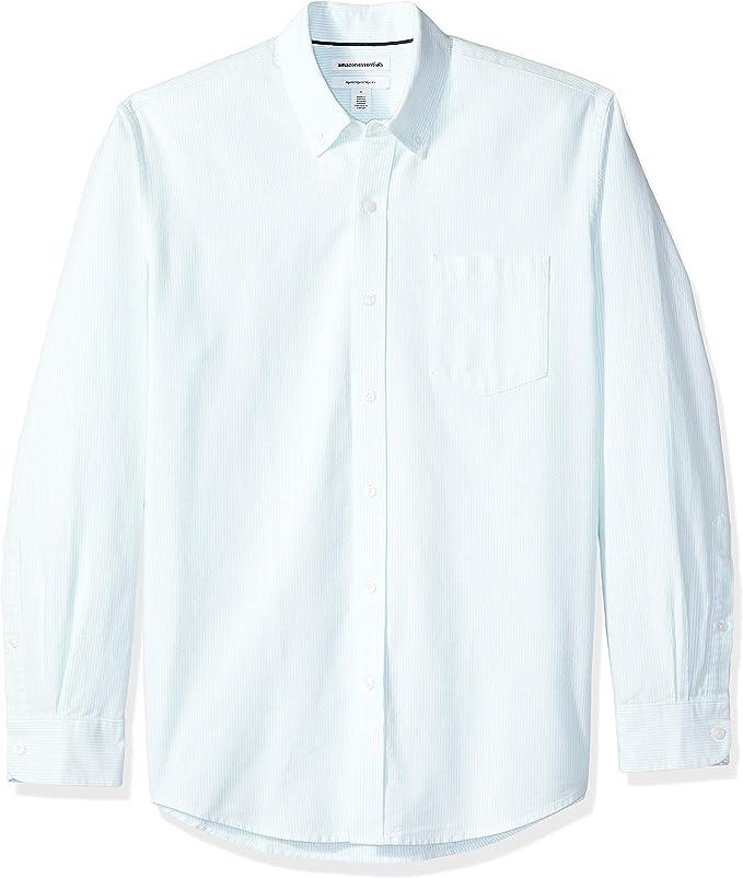 Amazon Essentials Camisa Oxford de manga larga con ajuste regular para hombre: Amazon.com.mx: Ropa, Zapatos y Accesorios