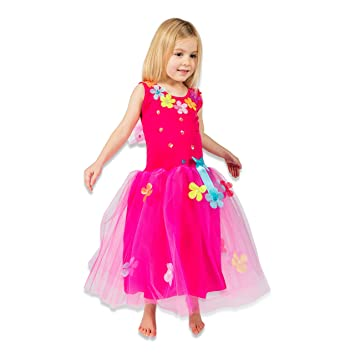 Lucy Locket - Disfraz de hada con flores y lentejuelas para niña (5-6