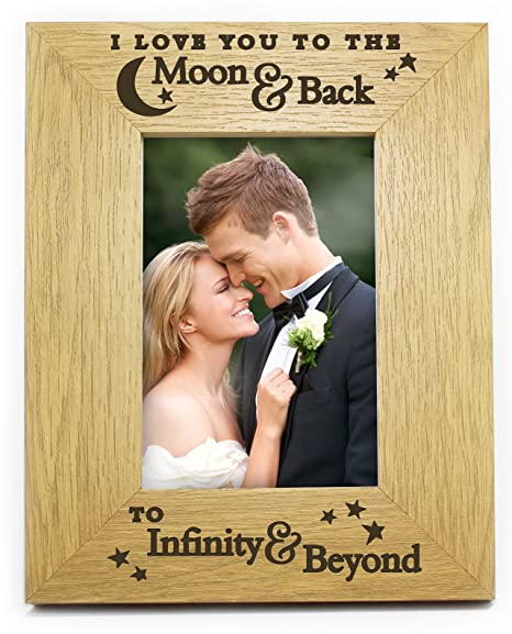 I Love You To The Moon And Back To Infinity And Beyond 6x4 Wooden