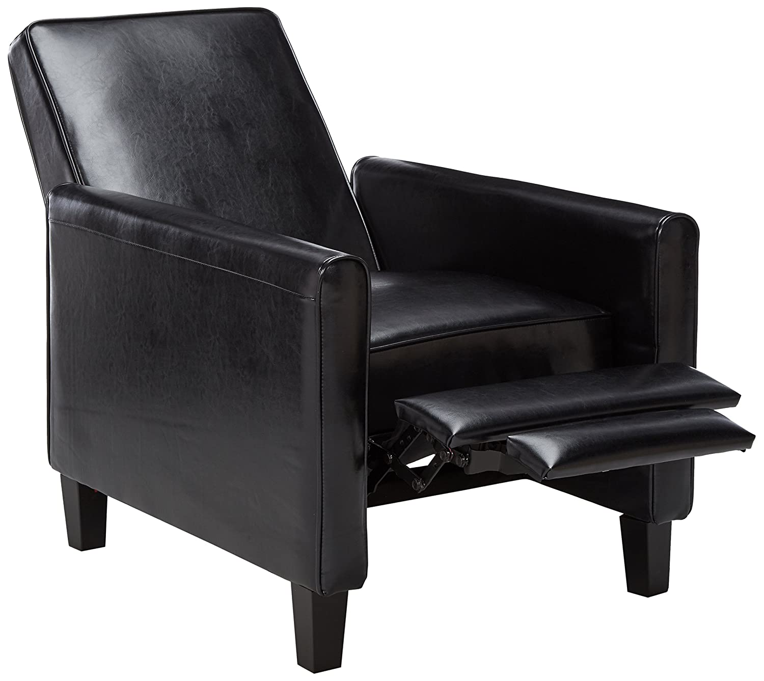 Amazon Best Selling Davis Leather Recliner Club Chair Black