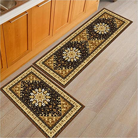 Merveilleux Home And Kitchen Rugs Pattern 2 Pieces Decorative Non Slip Rubber Backing  Doormat Runner Area