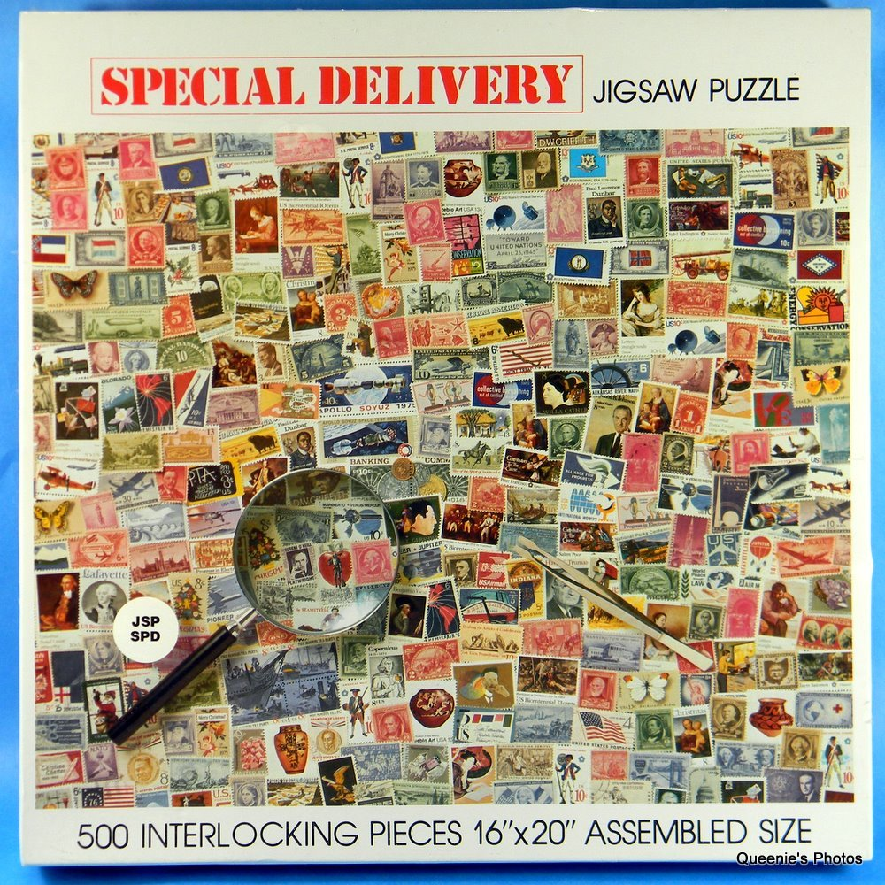 Special Delivery 500 Piece Jigsaw Puzzle Postage Stamps by Nordevco
