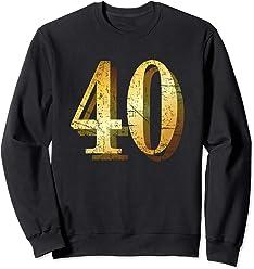 40 Years Shadowed 40th Birthday Gift Sweatshirt