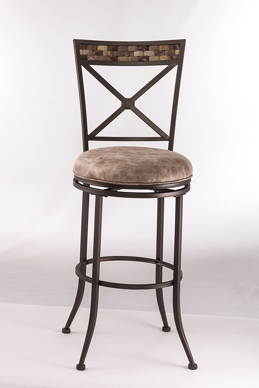 Hillsdale Furniture Compton Swivel Counter Stool, Brown