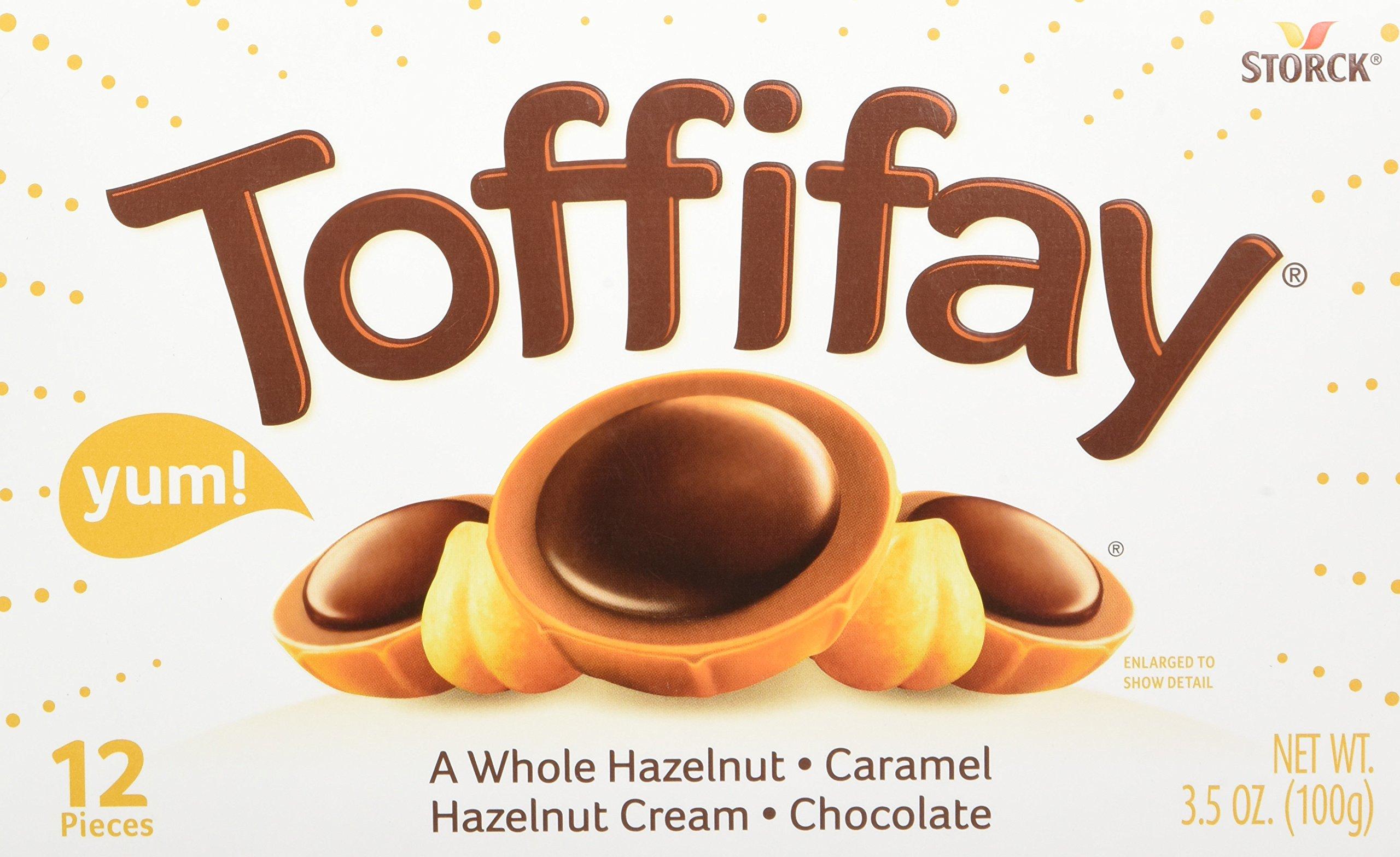 TOFFIFAY Hazelnut Candies, 12 Piece Box