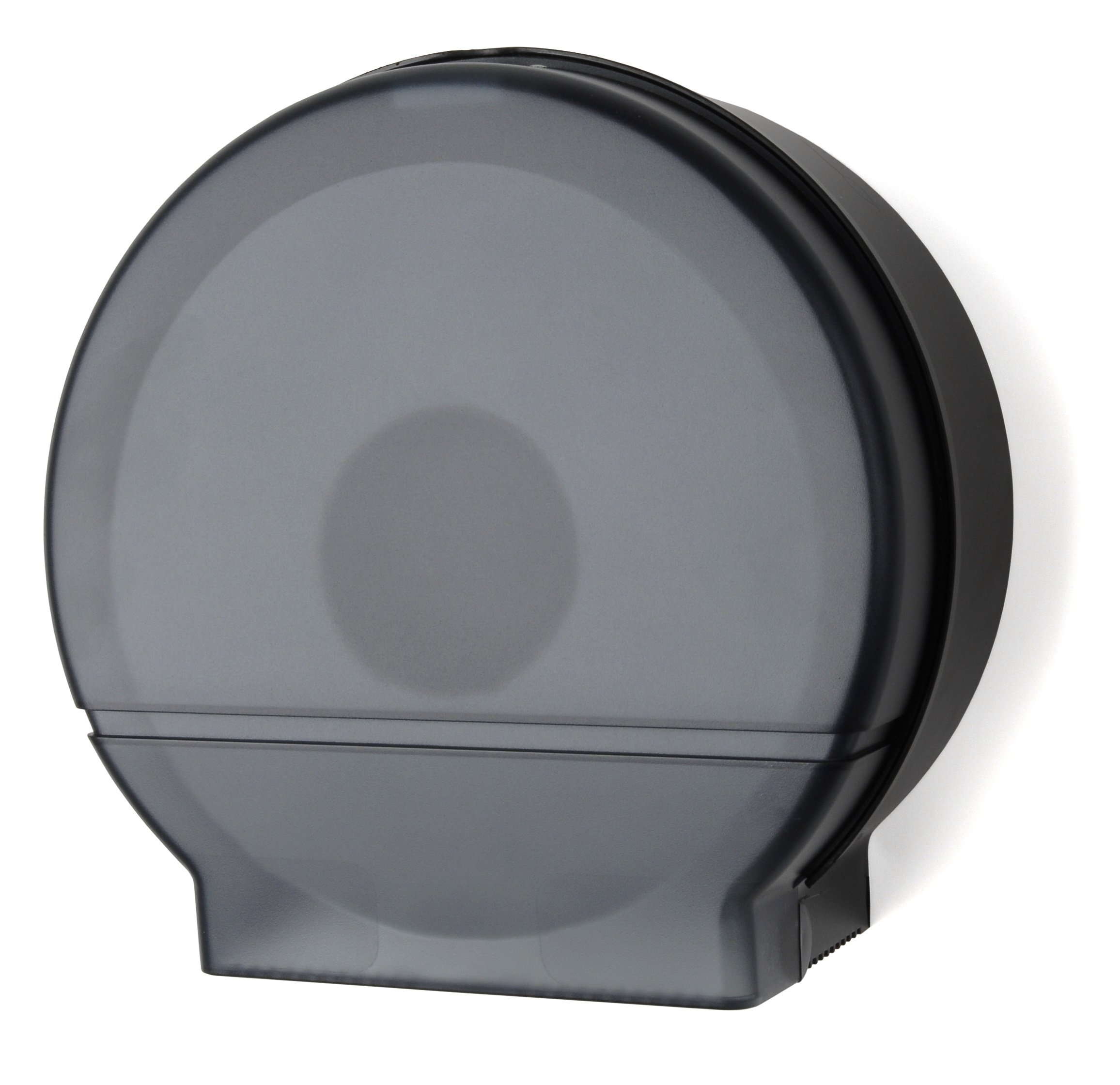 Palmer Fixture RD0026-02F Single Roll Jumbo Tissue Dispenser with Core Adaptor, Black Translucent