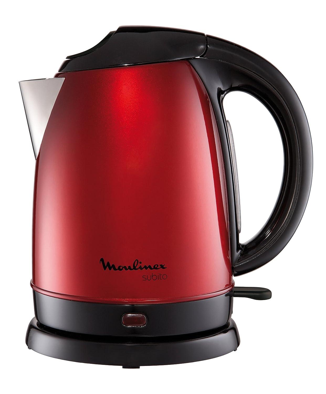 Moulinex BY5305 Wasserkocher Subito 1.7 l, 2400 Watt, metallic-rot