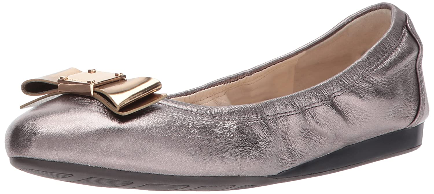 Cole Haan Women's Tali Bow Ballet Flat B06WLQNPNM 7.5 2A US|Pewter Metallic