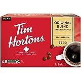 Tim Hortons Original Blend Coffee, Single Serve K-Cup Pods, Medium Roast, 48ct Pack
