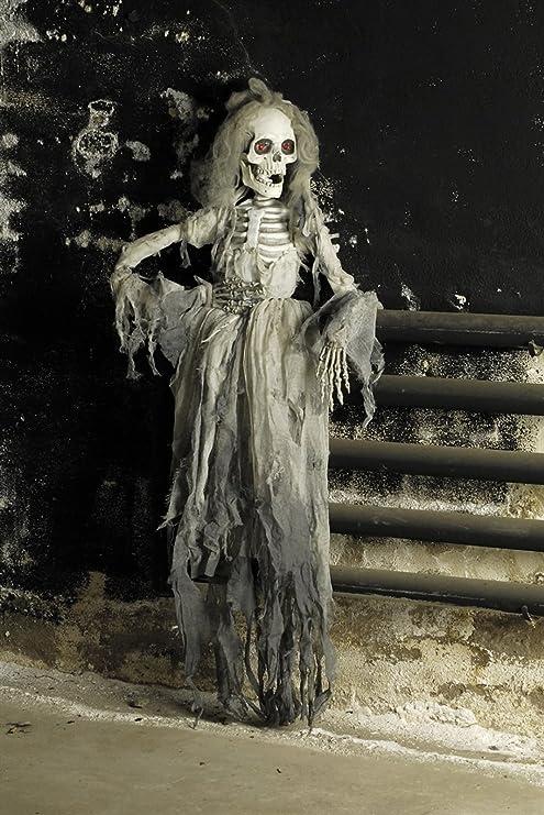 Das Kosta Mland Skelettbraut Halloween Deko Weiss Grau 150cm Einheitsgrosse Amazon De Kuche Haushalt