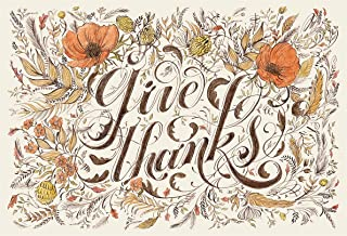 product image for Hester and Cook Die-Cut Give Thanks Placemats (Thanksgiving place-mat)