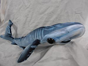 "Blue Printed Hammerhead Shark Plush Toy 35"" Long"