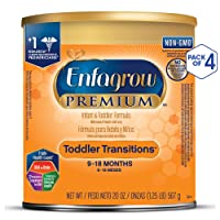 4 Pk Enfagrow PREMIUM Non-GMO Toddler Transitions Formula 20oz