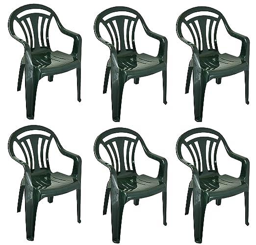 Bargains Hut, 6 sillones de plástico de Respaldo bajo para ...