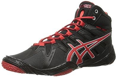 Asics Wrestling Shoes Omniflex-Attack Black Red Pepper Mens